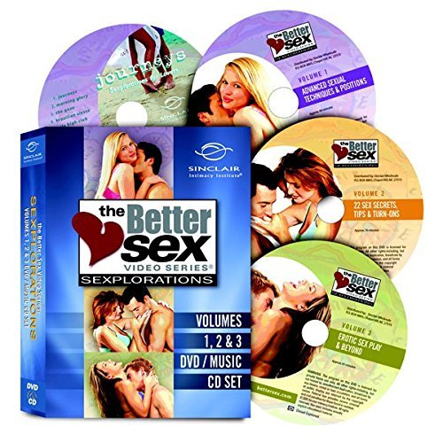 (Better Sex Video Series: Sexplorations - Volumes 1, 2, 3 DVDs + FREE Music CD Journeys DVD/music CD Set)