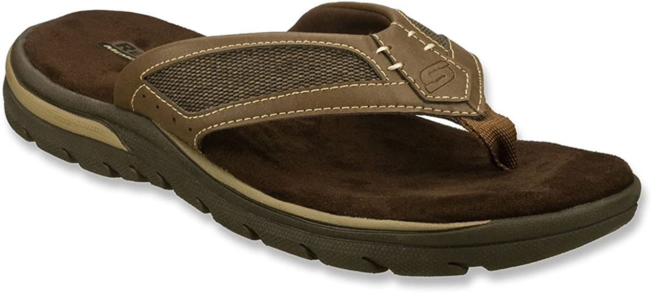 0a2ce3a2ae5d Skechers Relaxed Fit Supreme Jayline Mens Flip Flop Sandals Brown 13