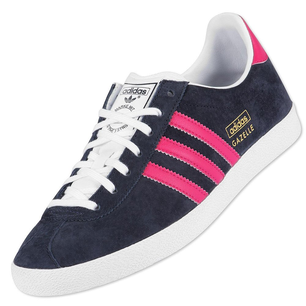 f46f2b53665ee Adidas Originals Gazelle OG Navy/Pink Trainers Womens Shoes Size 7.5 ...