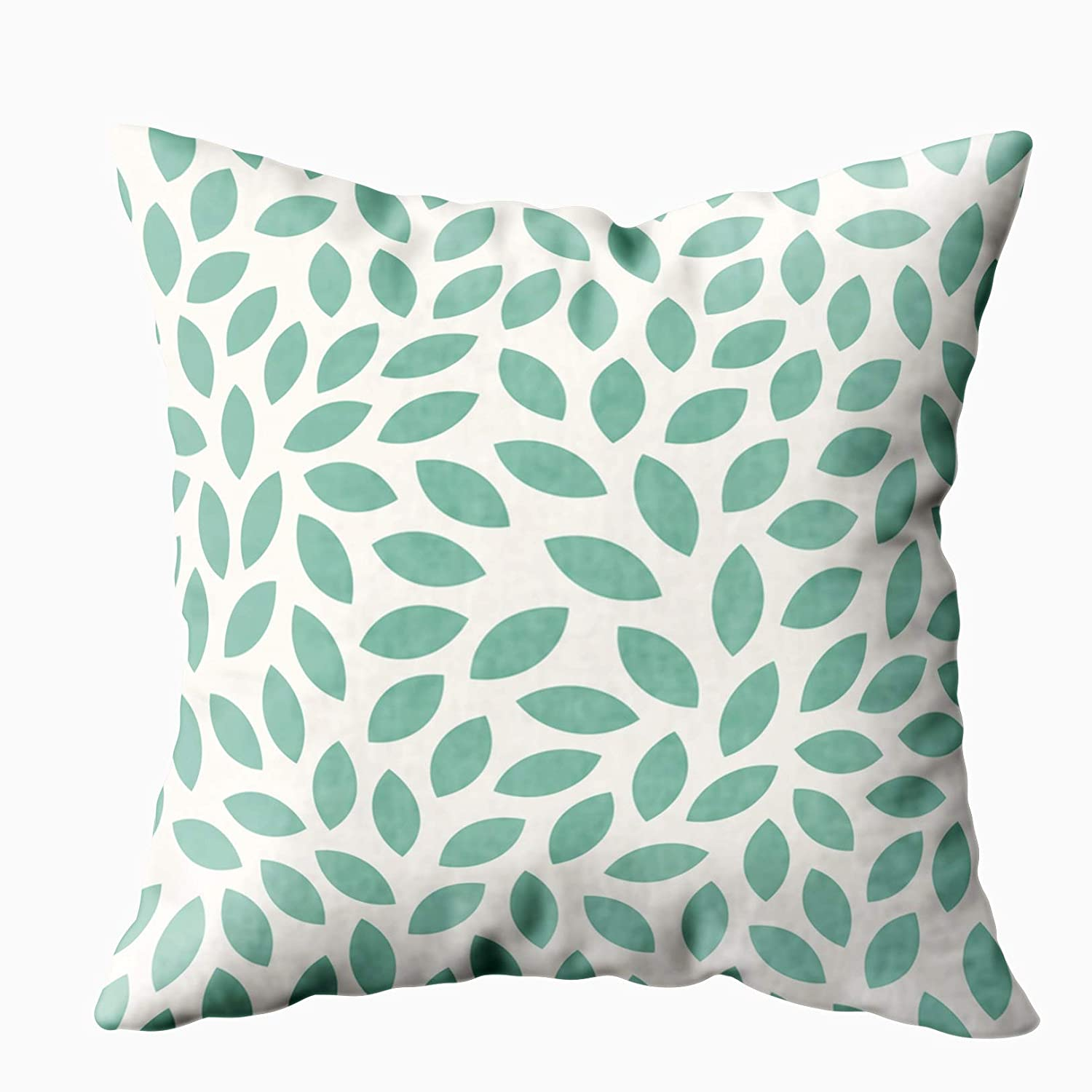 Shorping Kid Pillow Case, Zippered Covers Pillowcases 18X18Inch Throw Pillow Covers Leaves Pattern Background for Home Sofa Bedding