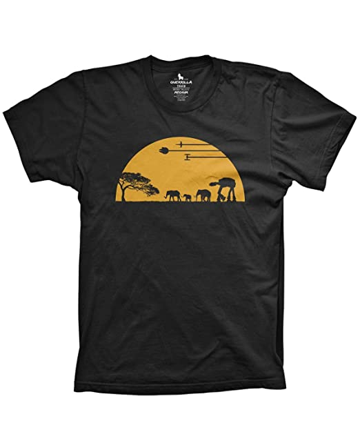 9018849c7e Guerrilla Tees at-at Movie Shirts Funny Tshirts Graphic Space tee, Black,  Small