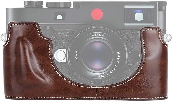 Black Color : Black YANTAIANJANE Camera Accessories 1//4 inch Thread PU Leather Camera Half Case Base for Leica M10