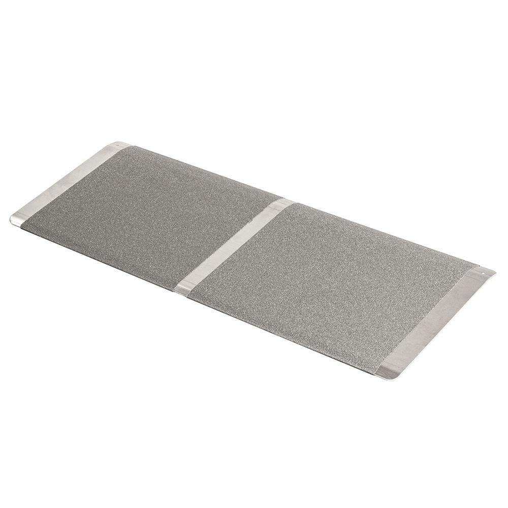 Silver Spring 2'' High, 32'' Wide Solid Aluminum Mobility Threshold Ramp for Wheelchairs, Scooters, and Power Chairs
