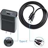 SONEic - USB Type-C (USB-C) Rapid Wall Charger & USB Type-C to Type-C Cable, 15 Watt/3.0 Amp (3A) for Nexus 5X/6P, Pixel, LG G5, HTC 10 & All USB Type-C Devices – Black (Charger+Cable Included)