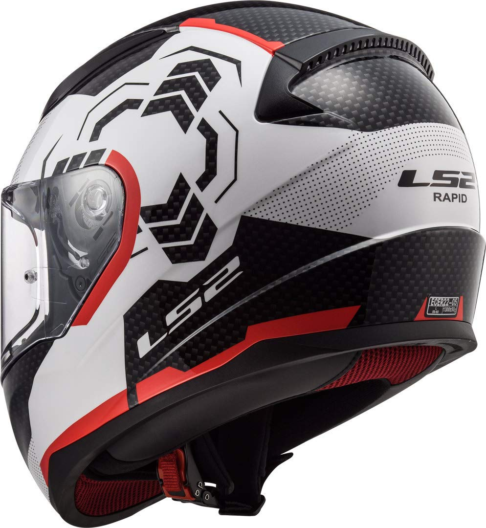 LS2 Casco Moto ff353/Rapid Ghost Blanco Negro Rojo L Color blanco//negro//rojo