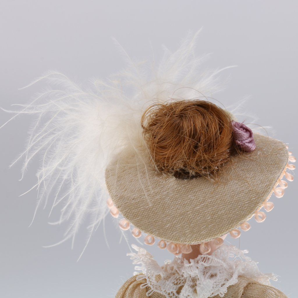 T TOOYFUL 1:12 Puppenhaus Miniatur Porzellanpuppe Viktorianische Dame Im Hellgr/ünen