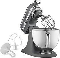 KitchenAid KSM150PSFG Artisan Stand Mixers, 5 quart, Matte Grey