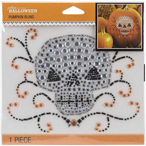 JOLEES Halloween Pumpkin Bling Stickers 6.5