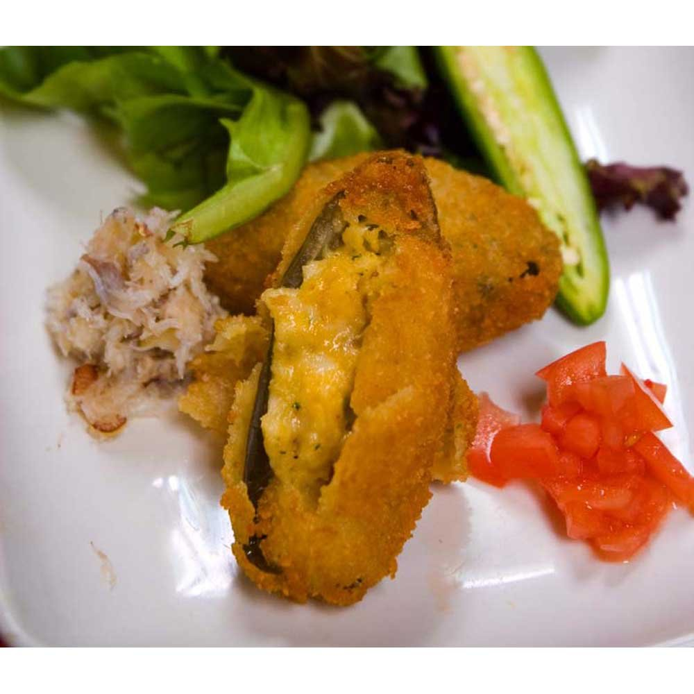 Miss Sallys Raw Jalapeno Pepper Stuffed with Crabmeat Appetizer, 3 Pound -- 6 per case. by Harbor Seafood