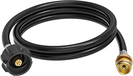 High Pressure Propane Hose Tube Adapter Coleman BBQ Grill LP Tank Camping Stove