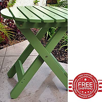 Classic Side End Table Elegant Rustic Design Indoor Outdoor Patio Garden Home Living Room Sofa Entryway Wooden Folding Frame Furniture & Ebook By Easy2Find.