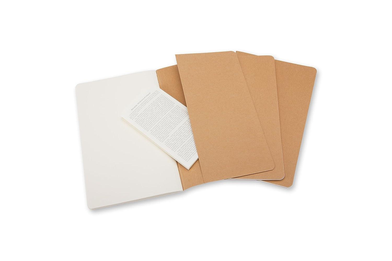 Set of 3 Moleskine Coffee Brown Pocket Plain Cahier Journal