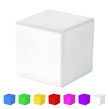 jago colour changing mood led light cube shape 7 colours relaxing