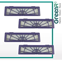 GreenR3 4-Pack Air Filter True HEPA for Neato 945-0123 Fits Neato BotVac 70 75 70e 80 85 Model Series Replacement Parts Cleaning Tool Accessories Part Number PN Purple Vacuum Vac and More