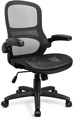 Funria Mid Back Mesh Office Chair Adjustable Ergonomic Swivel Executive All Mesh Task Chair