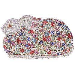 Fawziya Luxury Bling Daimond 3D Rabbit Rhinestone Clutches Evening Bag-Gold