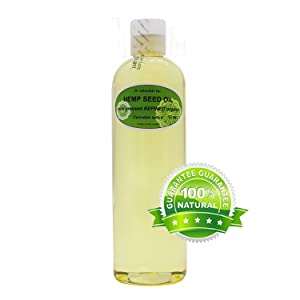 Hemp Seed Oil REFINED Pure,Organic,Cold Pressed by Dr.Adorable 12 oz