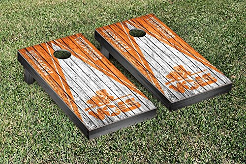 College Vault Tennessee Volunteers VOLS Regulation Cornhole Game Set Triangle Weathered Version by Victory Tailgate