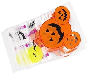 Amscan International - Bolsas de plástico con cierre adhesivo reposicionable, diseño de Halloween