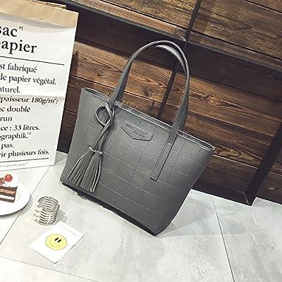 AoBao grand paquet simple féminin de l'ouest de Toth masse package package sac à la grande marée d'élégant, gris)