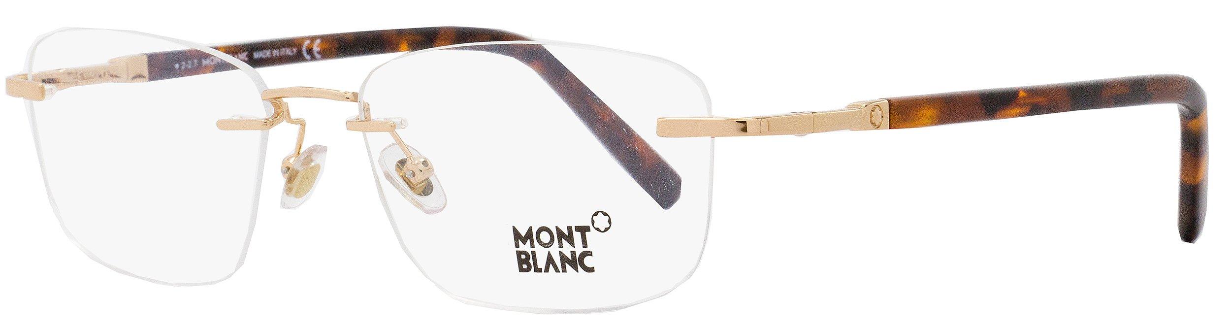 Mont Blanc Eyeglasses MB0558 MB/0558 028 Gold/Havana Rimless Optical Frame 55mm by MONTBLANC