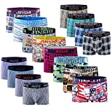 JINSHI Ultra Soft Sexy Mens Underwear Stretch Boxer Brief 7 Pack (Random) Size Large