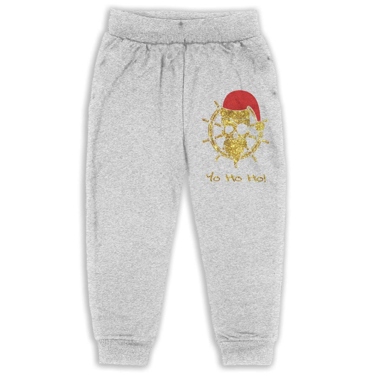 Laoyaotequ Pirate Santa Funny Christmas Pirates Kids Cotton Sweatpants,Jogger Long Jersey Sweatpants