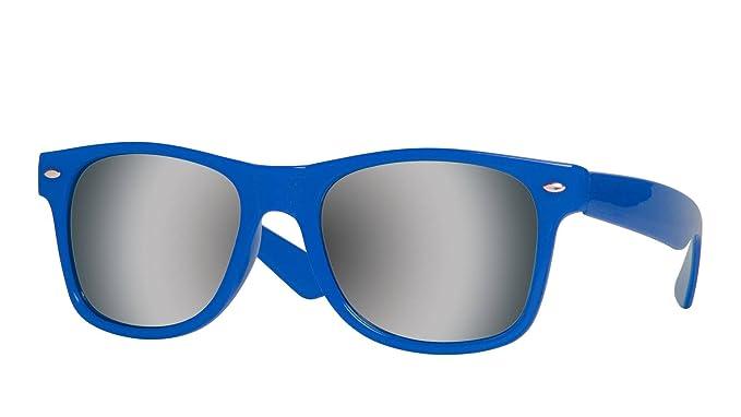 95f15a093e8 Amazon.com  Gravity Shades Horn-Rimmed Mirror Sunglasses
