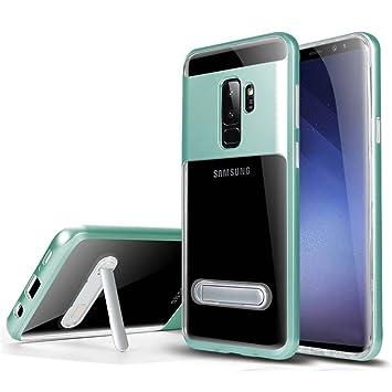 Funda Samsung S9 Plus Silicona Menta Verde parachoque TPU Transparente Claro Brillante Super Delgado Suave Carcasa de telefono Protección por ...