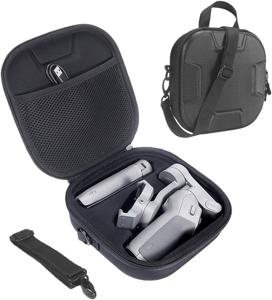 HIJIAO Hard Carrying Case for DJI Osmo Mobile 3, Waterproof Travel Bag for Osmo Mobile 3 Accessories (Black)