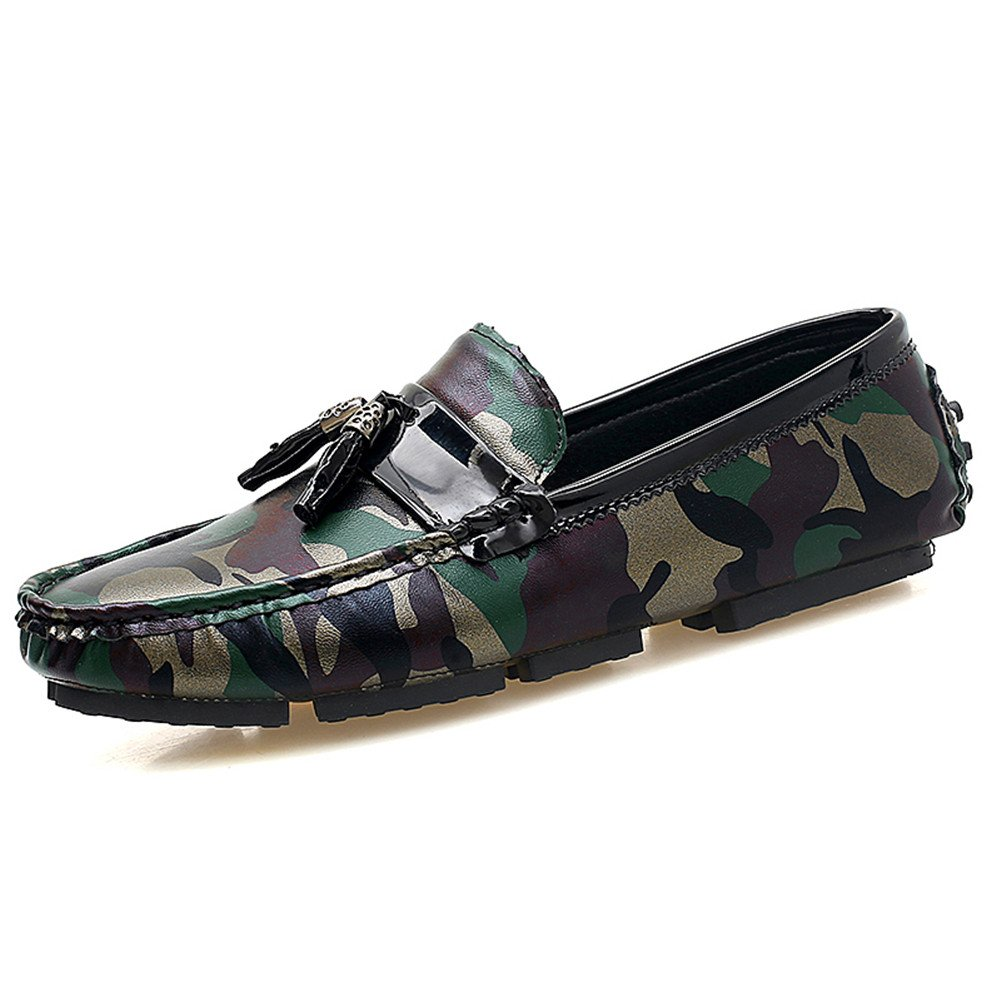 Mocasines Hombre Camuflaje Negocios Zapatos Moda Slip on Artesanal 2018 Nuevo: Amazon.es: Zapatos y complementos