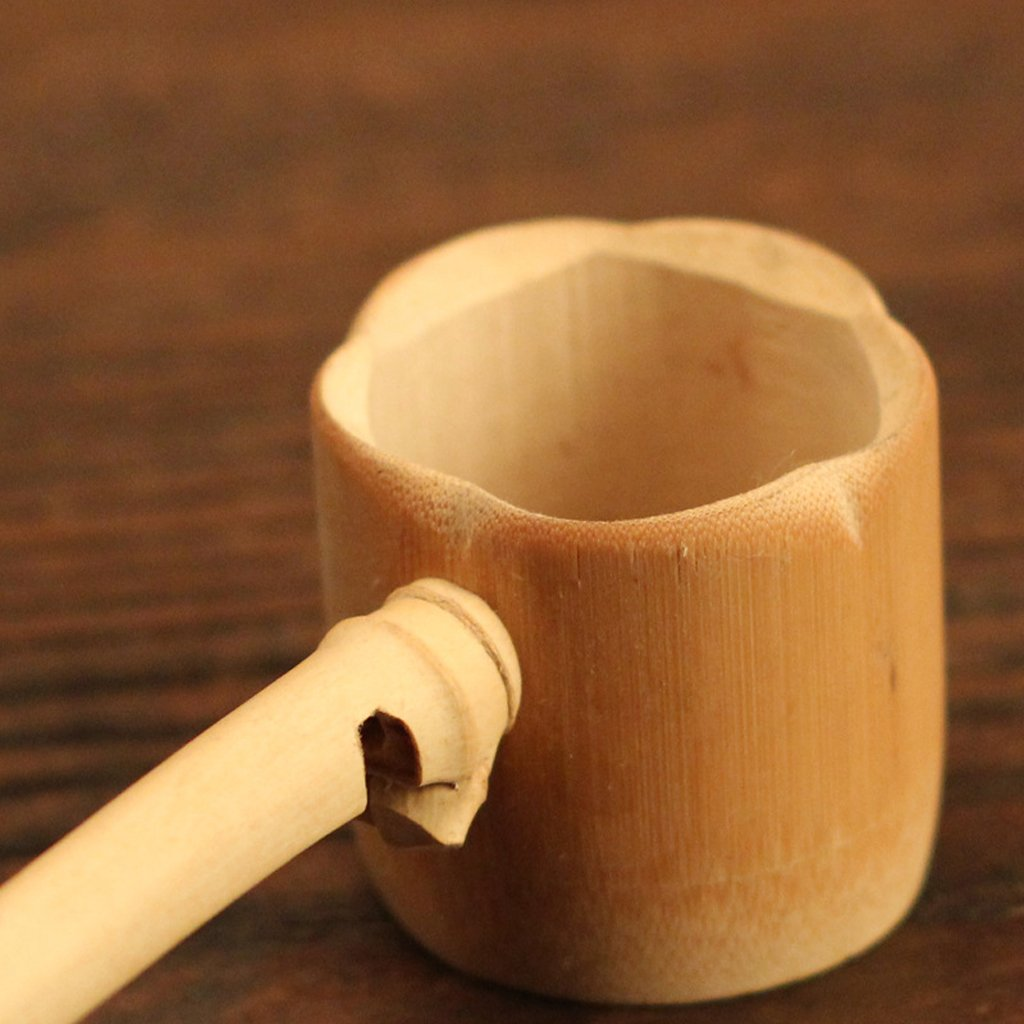 Light Brown MagiDeal 5 Types Loose Tea Leaf Strainer Filter Long Handle Bamboo Tea Infuser Basket Mesh 4x4x12cm