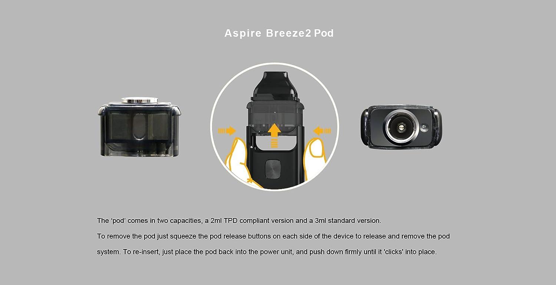 Genuine Aspire Breeze 2 AIO 1000mah AIO Starter Kit (Black)