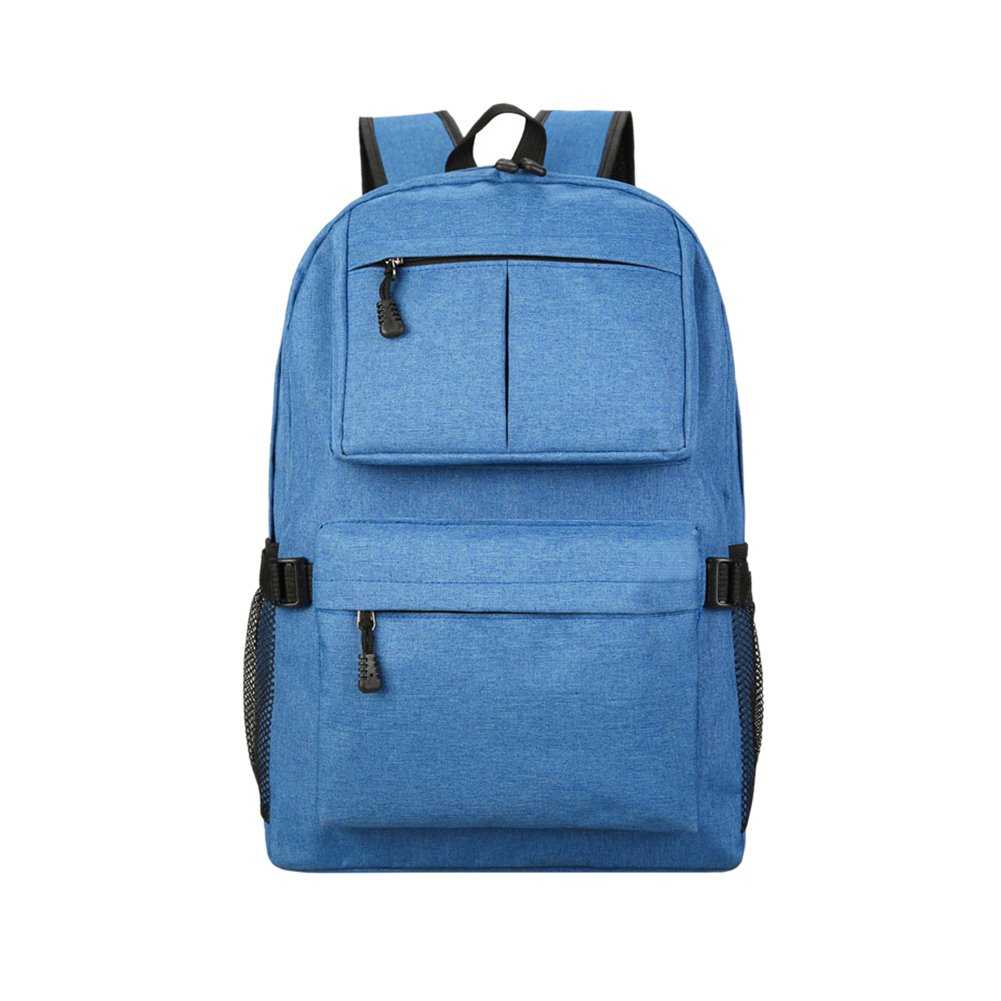 Casual Unisex Lightweight Backpack Students School Bag Leisure Large Capacity Double Shoulder Backpack with USB Charging Port