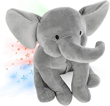 INNObeta Elefante Peluche Bebe, Luz De Proyector Luces Estrellas ...