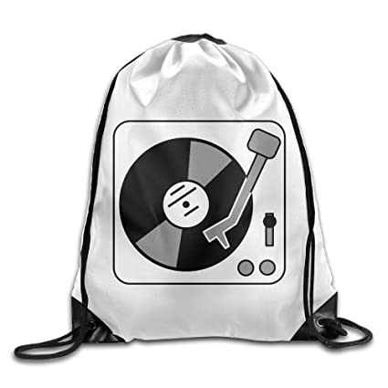 Turntable Music Vinyl Record Dj Drawstring Tote Cinch Pack Backpack  Handbags Summer 98675183a4dbd