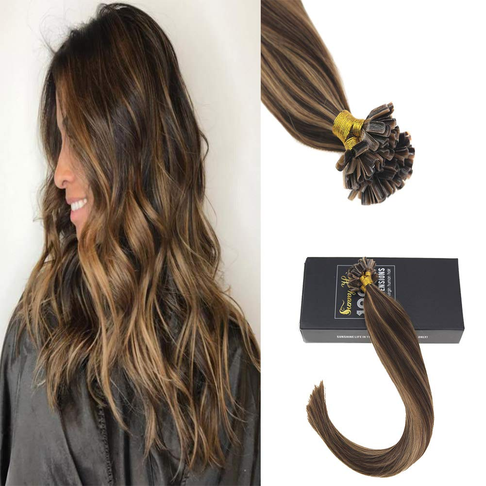 Amazon Sunny 7a Prebonded Fusion Hair Extensions Dark Brown
