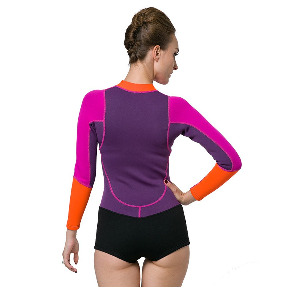 Neoprene Wetsuit Women 2MM Surfing Wetsuits One Piece Swimming Snorkeling  Diving Wet Suit Long Sleeve ff54c08cc