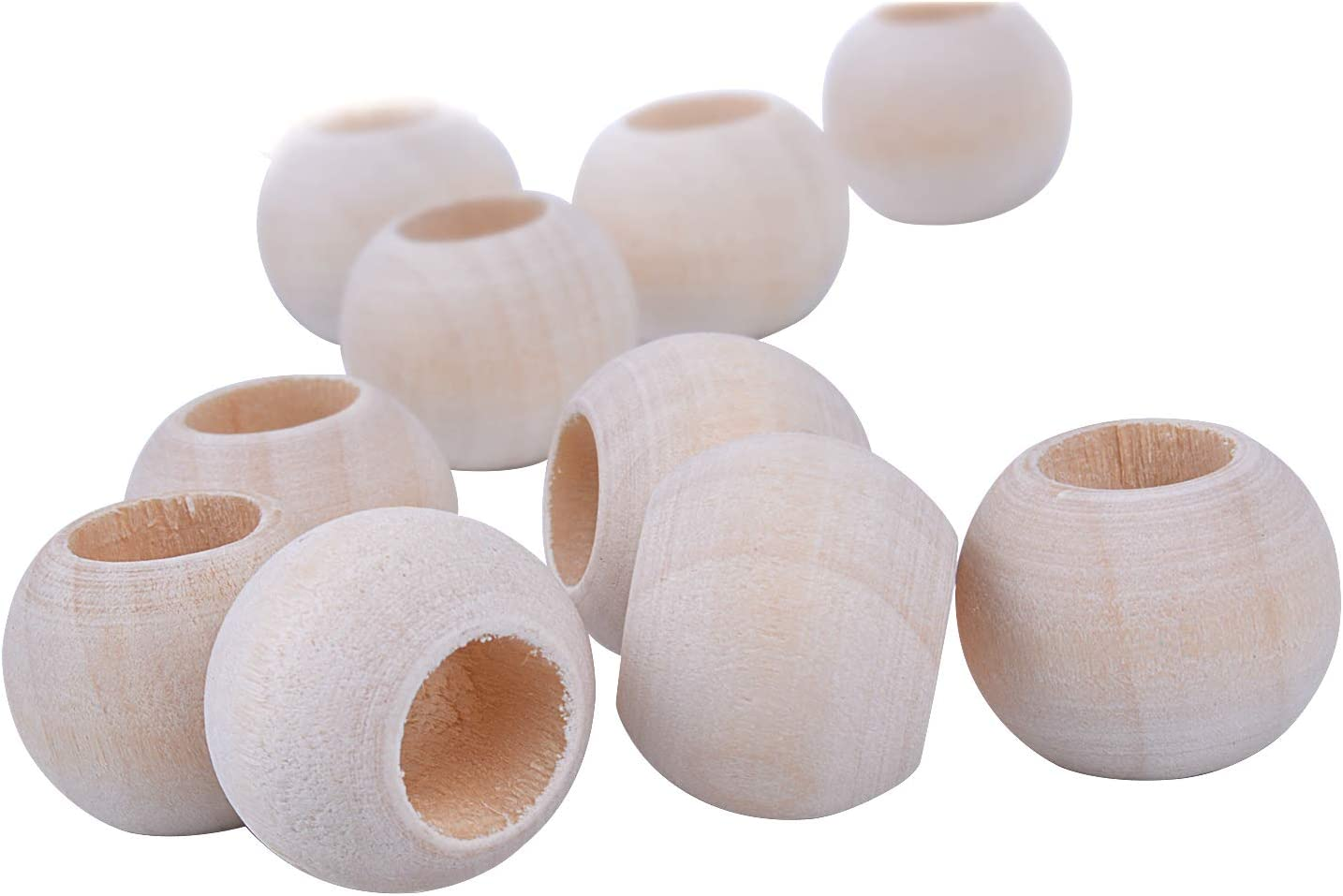 Natural Round Wood Loose Beads Wood Spacer 12mm Diameter x 5mm Hole Jdesun 200 Pieces Wooden Beads