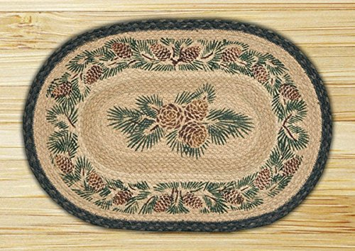 13in. x 19in. Pinecone Oval Placemat - Set of 4
