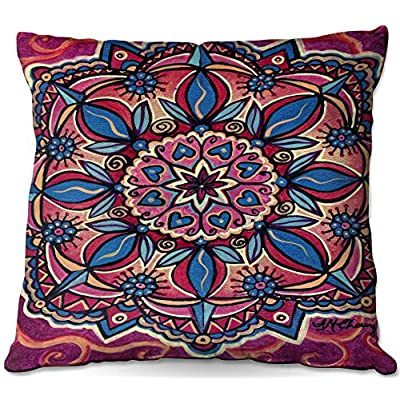 Outdoor Patio Couch Throw Pillows from DiaNoche Designs by Ann Marie Cheung - Mandala Love : Garden & Outdoor