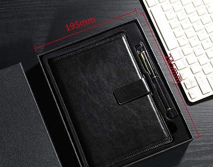 Caja Rígida Hebilla Cuadrada Cuaderno Creativo Negro ...