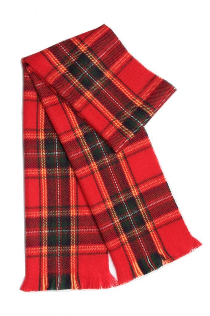 Japanese Solid and Plaid Scarf Soft and Warm Better than Cashmere Winter Scarf Perfect for Boys Kids Toddlers Girls - Red Plaid