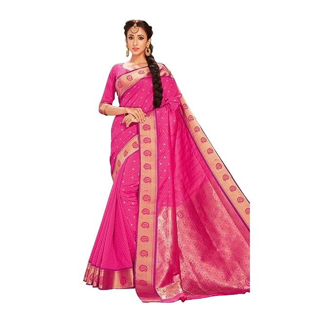 Craftsvilla Women S Art Silk Saree With Blouse Piece