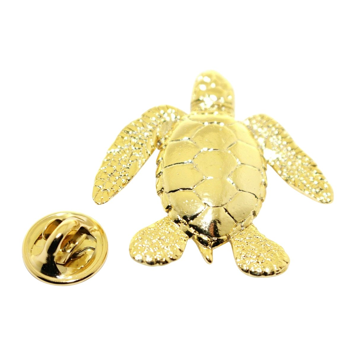 Sea Turtle Pin ~ 24K Gold ~ Lapel Pin ~ Sarah's Treats & Treasures
