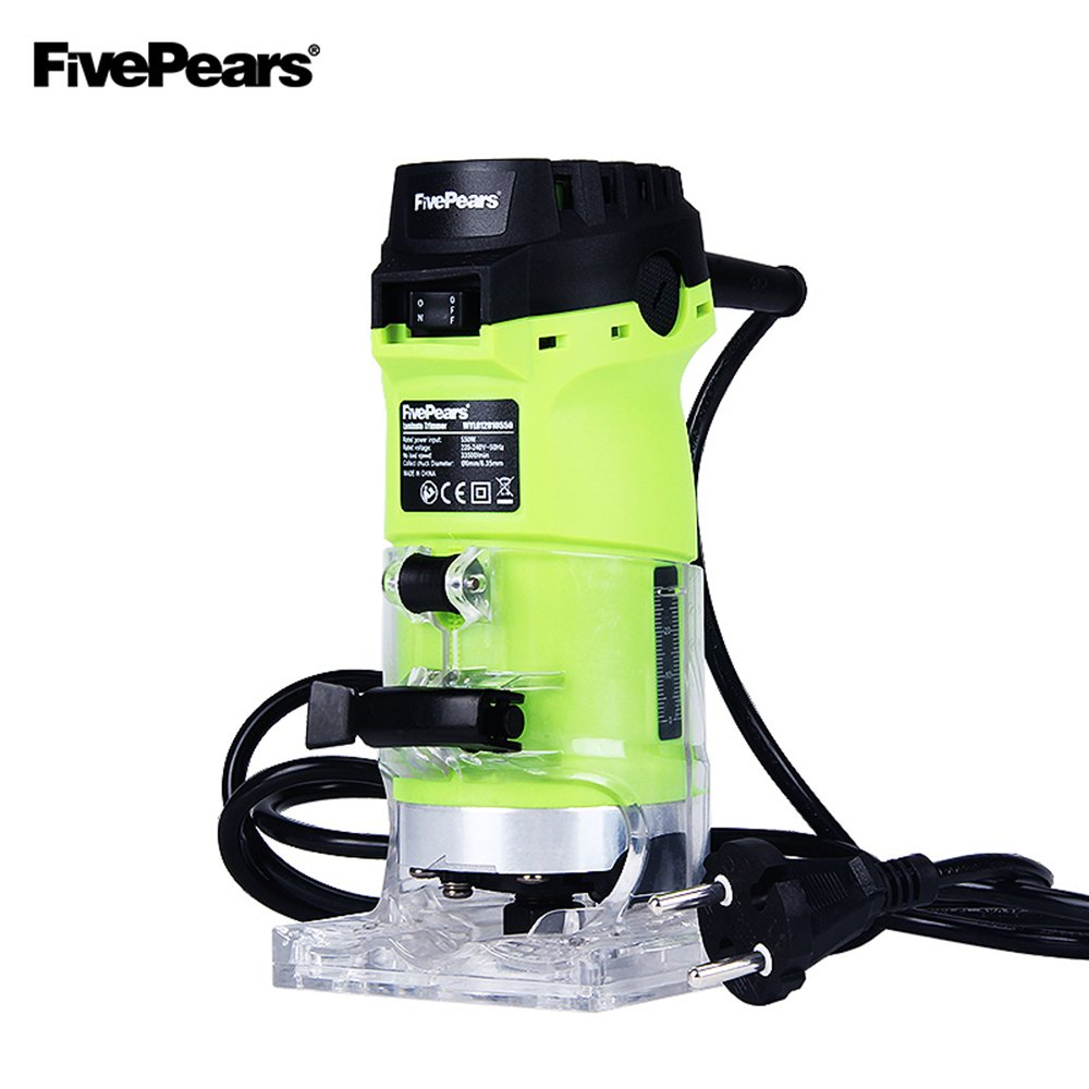 Original FivePears 220V 550W Electric Laminate Trimmer/Router 6mm and 1/4'' Woodworking Router Electric Wood Edge