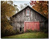 Farmhouse Decor 8x10'' Unframed Print of a Rustic Barn in Autumn