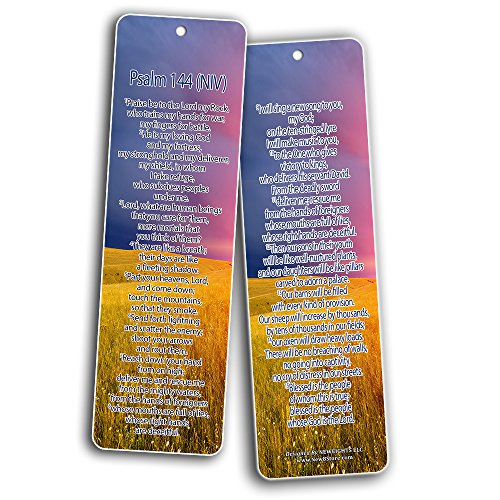 Bible Verse Bookmarks - Psalm Bookmarks - NIV Version (30-Pack) - Religious Christian Inspirational Gifts to Encourage Men Women Boys Girls - Bible Study Sunday School War Room Decor by NewEights (Image #6)