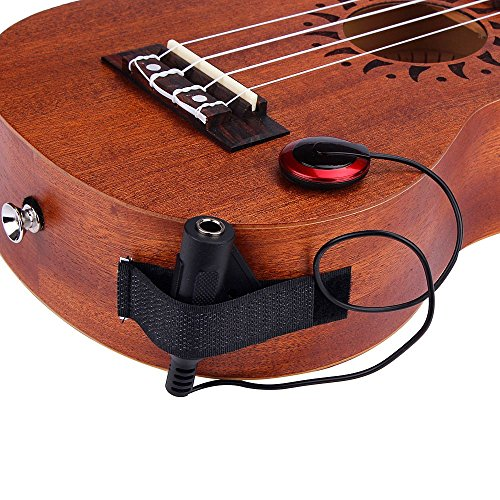 Aviat Acoustic Guitar Pickup, Piezo Contact Microphone Transducer Acoustic Piezo Contact Microphone Pickup for Guitar Violin Mandolin Ukulele [Ship from USA Directly] (Black)