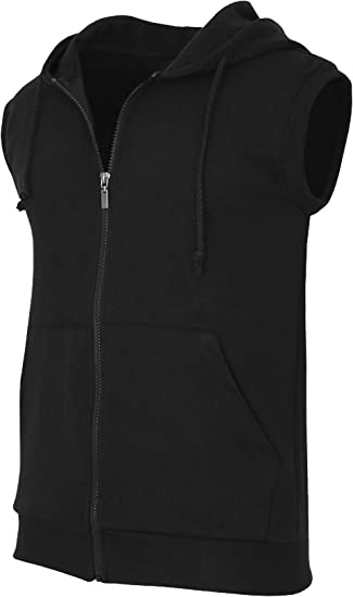 MEN`S NEW LONSDALE SLEEVELESS ZIP UP HOODIE SIZE SMALL CHARCOAL VEST GILET